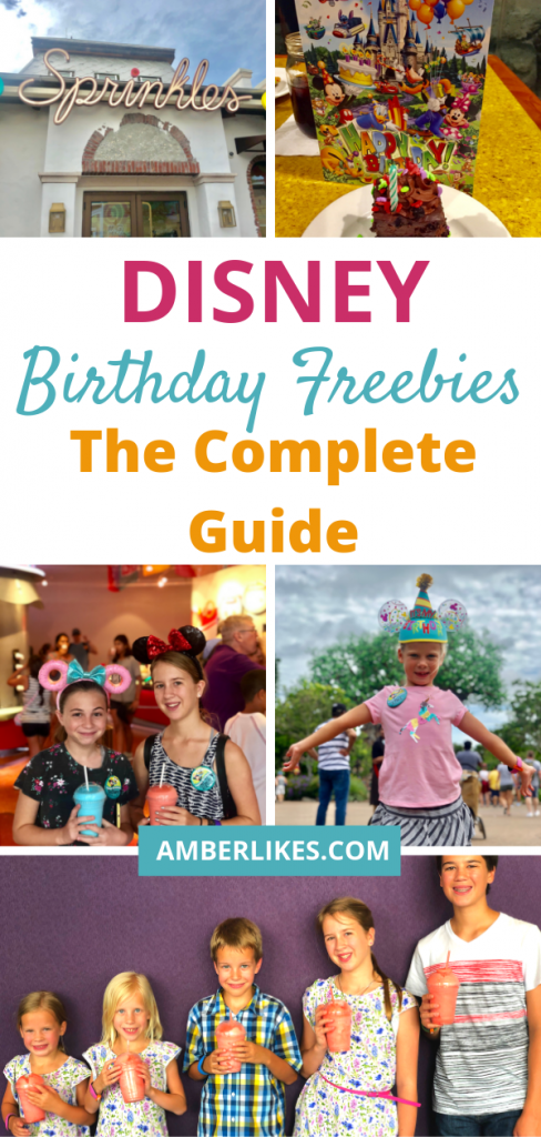 What can you get for free on your birthday at Disney World?