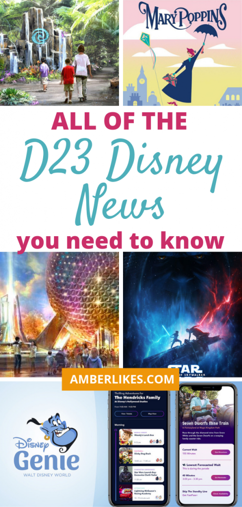 Orlando travel blogger, Amber Likes shares a look at what D23 revealed this year! Find out all of the parks, Disney+, Star Wars, and Disney Cruise Line news