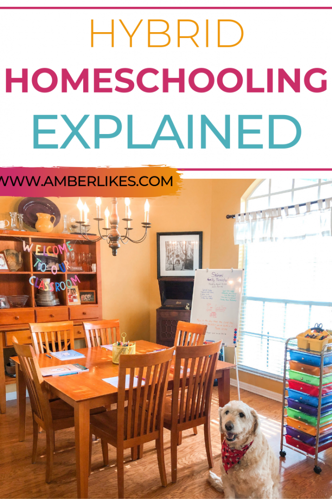 What is hybrid homeschooling? Also known as part-time homeschooling. Get all of your questions answered from Orlando lifestyle blogger, Amber Likes.