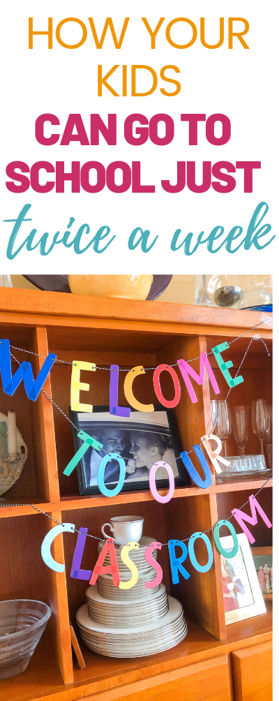 How can your kids go to school just twice a week? | Hybrid Homeschooling