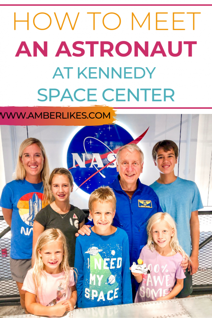 Meet an astronaut at Kennedy Space Center! It's easy! Find all the different ways you can meet an astronaut at KSC from Orlando travel blogger, Amber Likes!