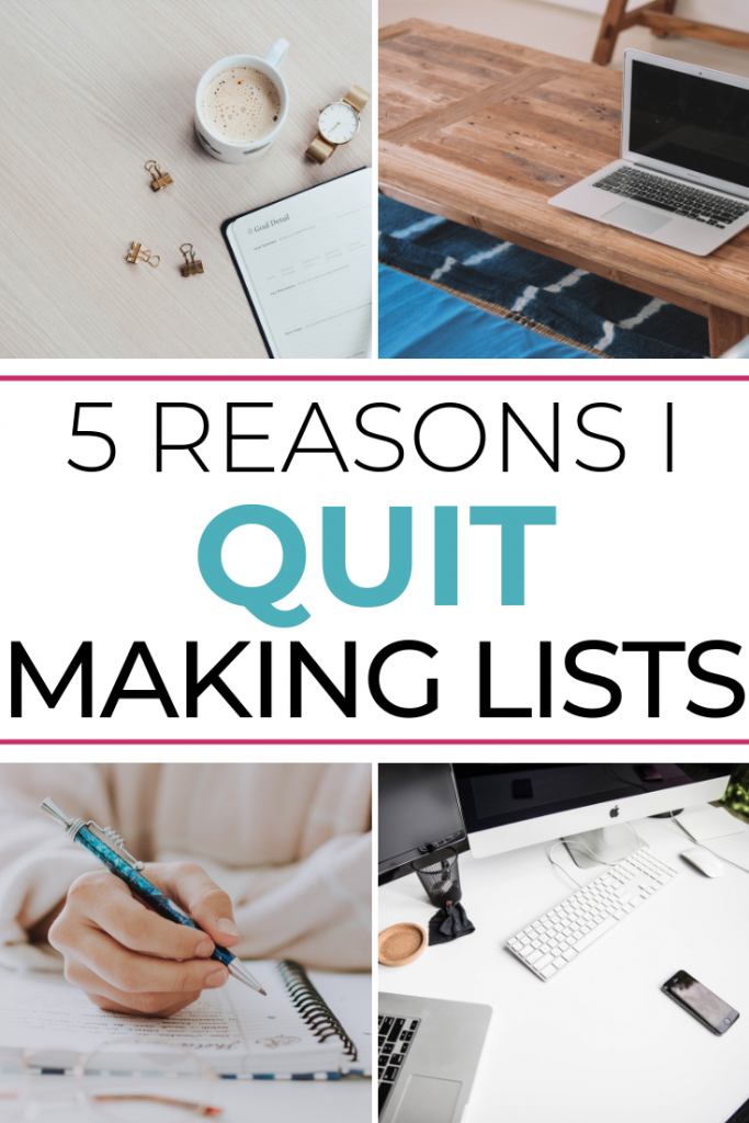 Why I quit making lists: confessions of an obsessive list maker. Find freedom and learn to just be with your loved ones from an Orlando mom blogger!
