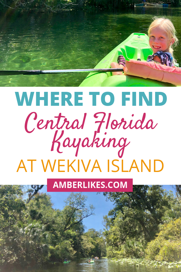 Traveling to Central Florida? Looking for where to kayak in Florida? Orlando travel blogger, Amber Likes shares Central Florida Kayaking at Wekiva Island!