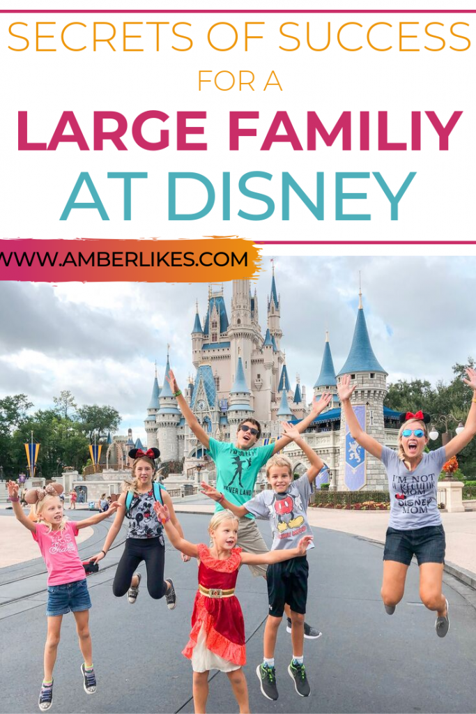Is it possible to go to Disney with a large family? Orlando travel blogger, Amber Likes is an annual pass holder and goes often with her 5 children!