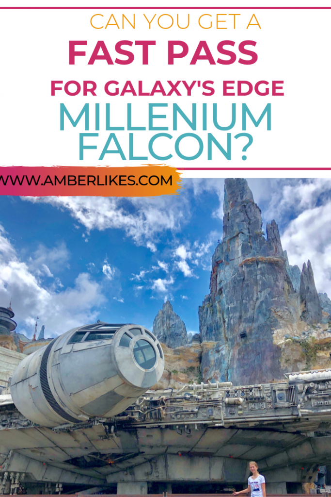 Can you get a Fast Pass for Galaxy's Edge Millenium Falcon at Disney World?