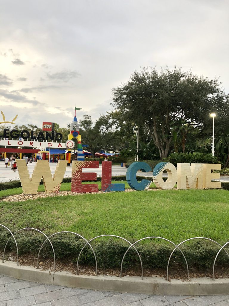 Legoland Florida welcome sign
