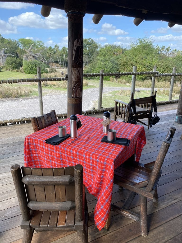 Wild Africa Trek savannah dining