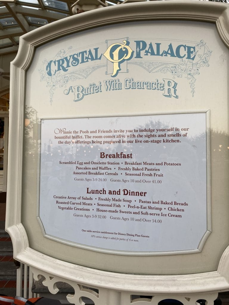 crystal palace menu