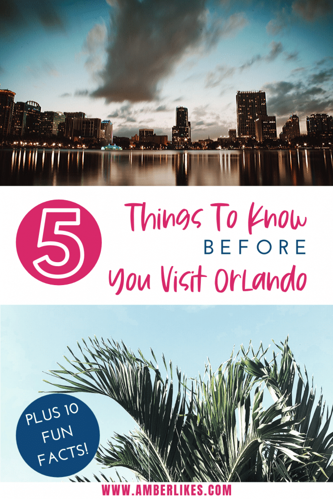 Your guide to visiting Orlando from a local. Where is Orlando? When is the best time to visit? What's the weather like? Everything answered! We also share 10 fun facts to know about Orlando! #Orlando #Florida #TravelTips
