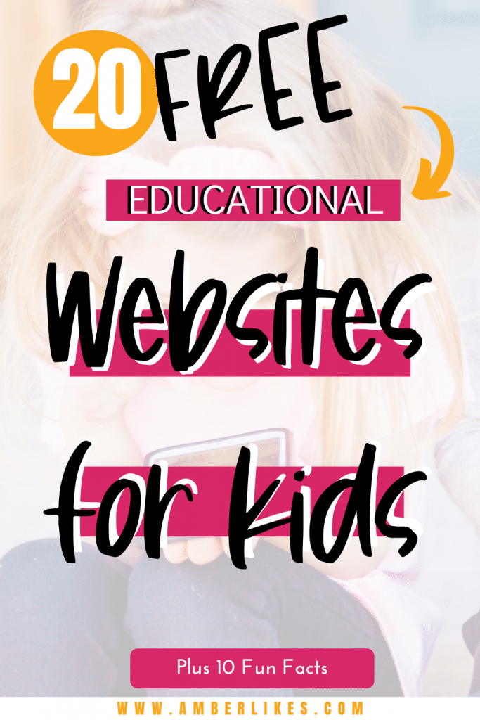 20 FREE educational websites for kids who are learning at home. Save this list for use over and over again in the future! #education #homeschooling