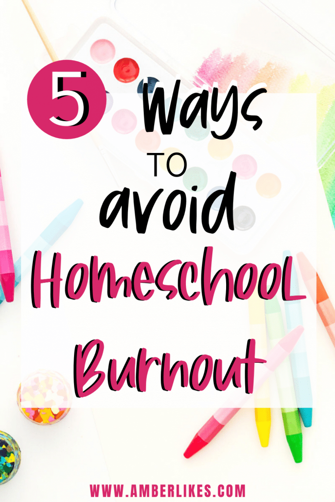 Find 5 ways to avoid and overcome homeschool burnout from a veteran homeschooling Mom of 5. Easy ways to find new energy and fun during homeschooling days! #homeschooling #homeschool