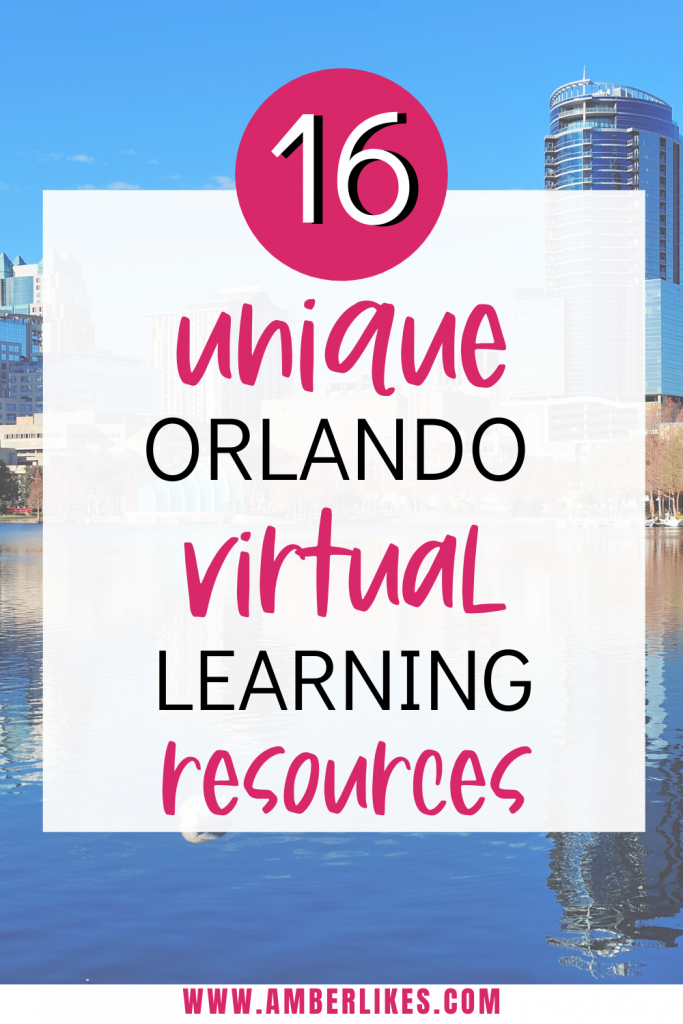 Find 16 free and unique Orlando virtual learning resources including science, art, history, and live animal encounters! #orlando #onlinelearning