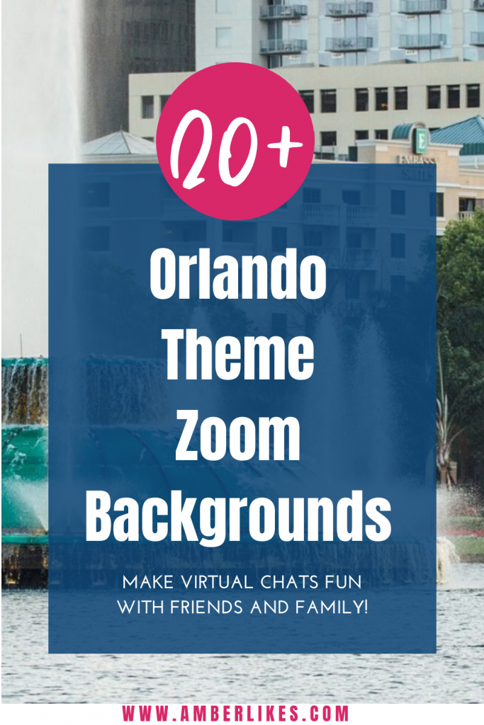 Orlando backgrounds for Zoom meetings make Orlando feel closer! Beautiful backgrounds from all of your favorites Orlando attractions and locations! #orlando