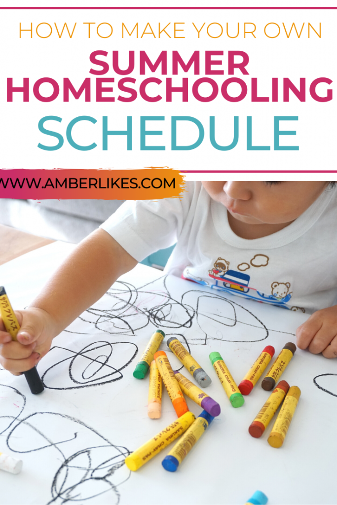 summer homeschool schedule