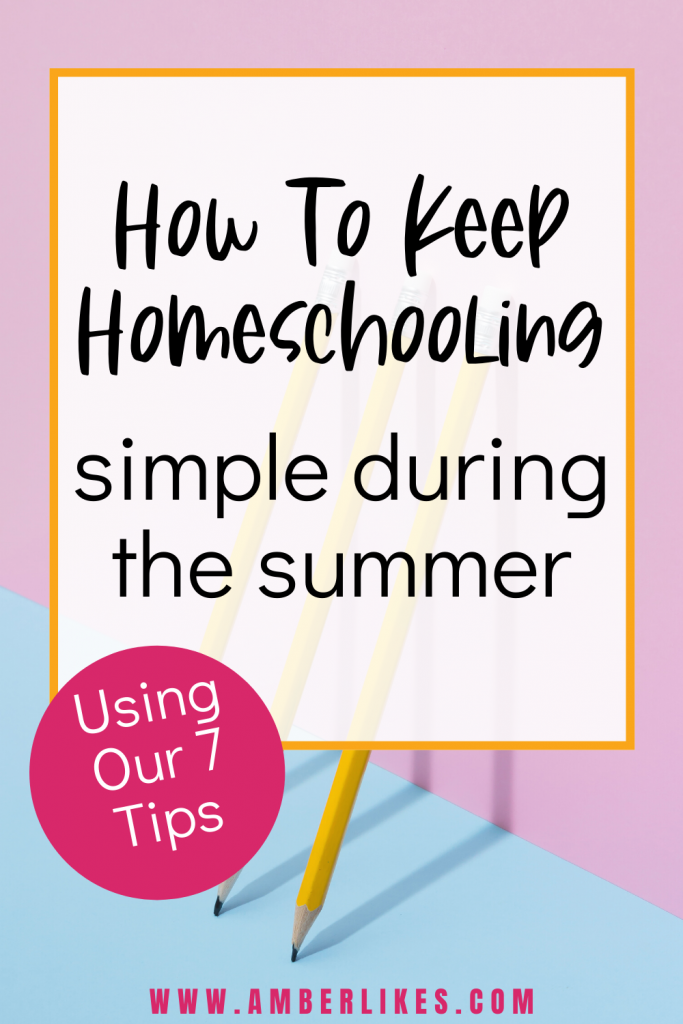 Summer homeschool can be both educational and fun! Check out curriculum, travel, and schedule ideas. Best summer ever! #summer #homeschool