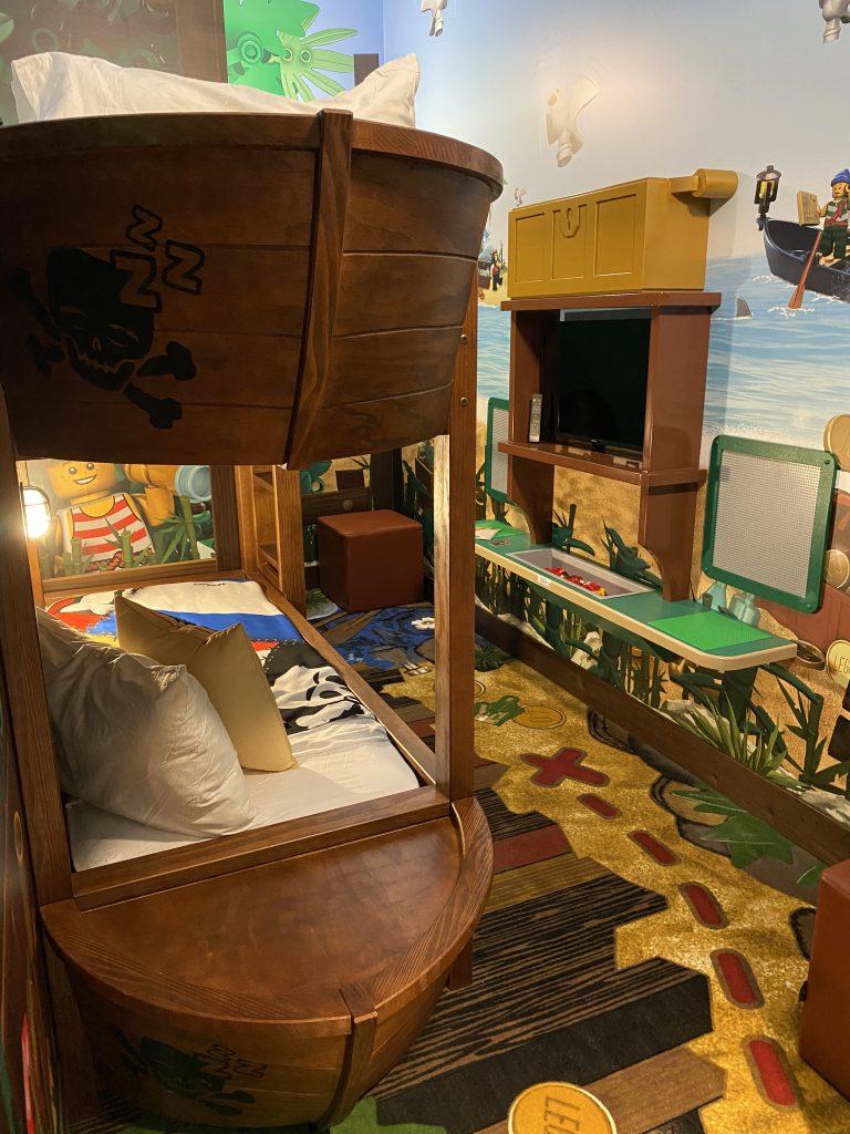 Legoland Pirate Island Hotel bunk beds