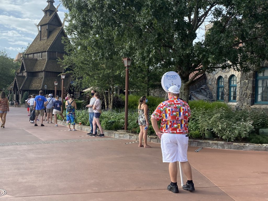 frozen ever after queue