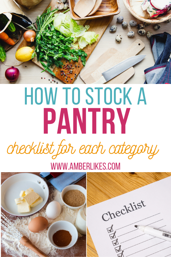 how to stock a pantry for the first time