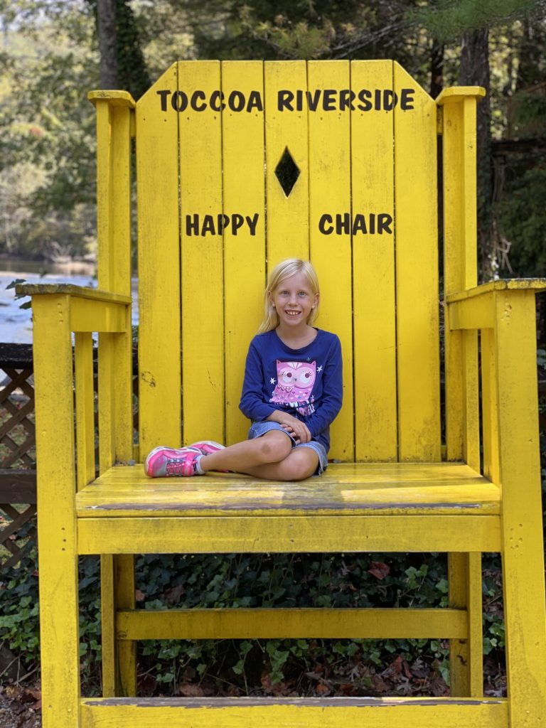 Toccoa Riverside Restaurant happy chair