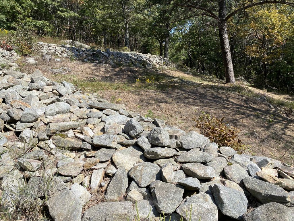 Fort Mountain State park stone wall