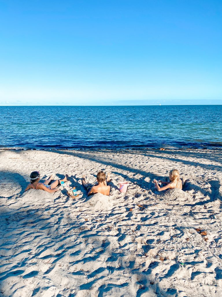 Crandon Park Beach with kids