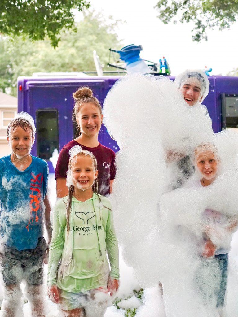 bubble truck party