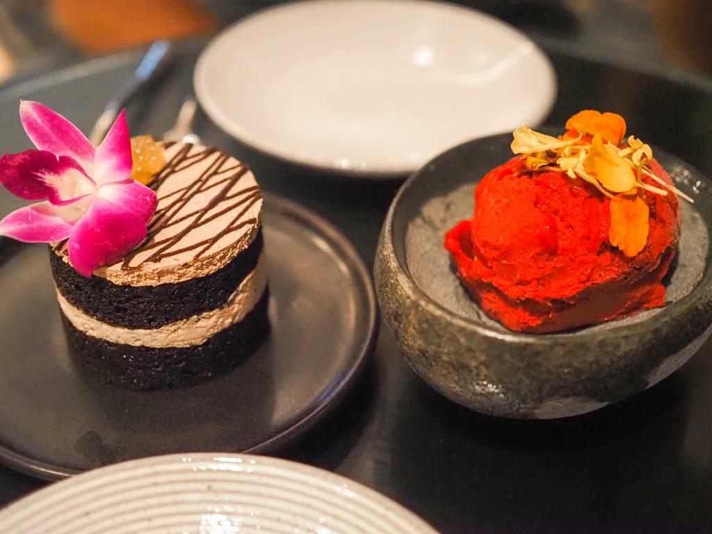 dessert at illume jw marriott