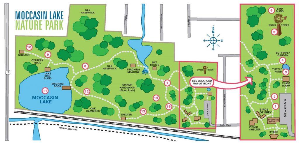 Moccasin Lake Nature Park map