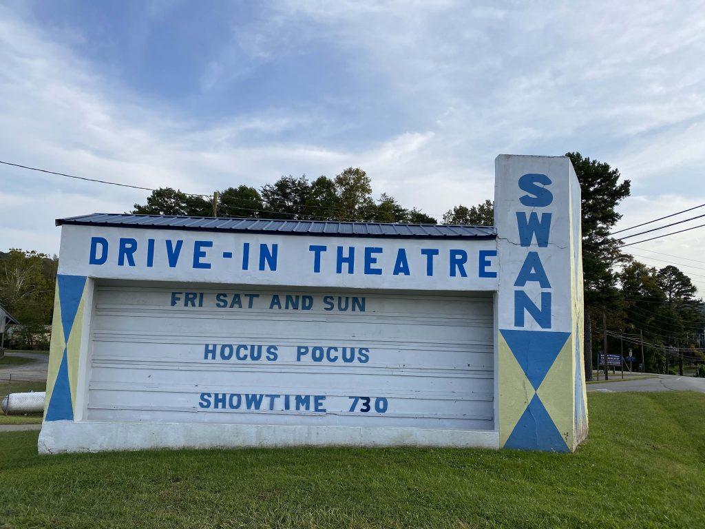 Blue Ridge drive in movie theater